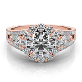 ROUND HALO DIAMOND ENGAGEMENT RING EN7265