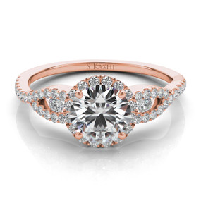 ROUND HALO DIAMOND ENGAGEMENT RING EN7365
