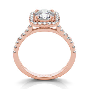 Square Halo Diamond Engagement Ring EN7486