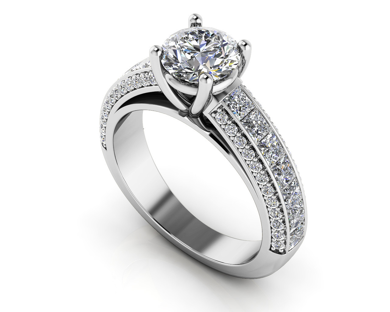 Round Princess Cut Engagement Ring Buy Custom Engagement Rings