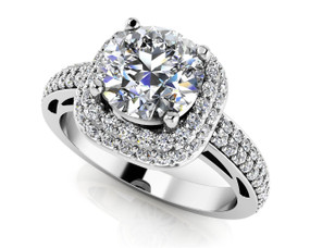 Double Halo Engagement Ring Style BDMS201-A