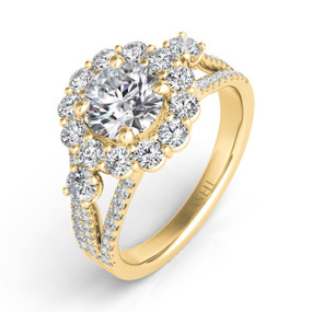 Halo Diamond Engagement Ring EN7417