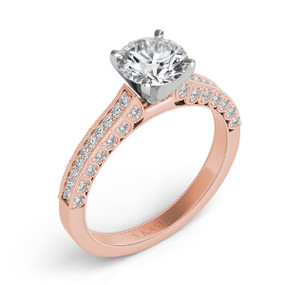 Antique Style Diamond Engagement Ring EN7509