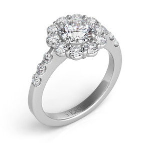 ROUND HALO DIAMOND ENGAGEMENT RING EN7072