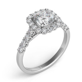 PRINCESS HALO DIAMOND ENGAGEMENT RING EN7168