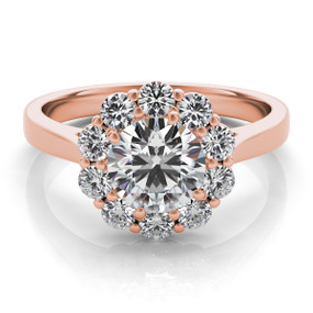 ROUND HALO DIAMOND ENGAGEMENT RING EN7376