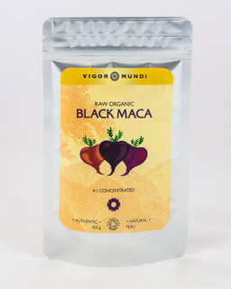 Black Maca 4:1, high quality organic maca root powder, raw by vigor mundi,