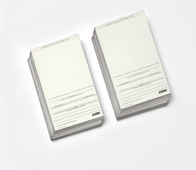 Printer Cards, 3 Part, Short (5000)