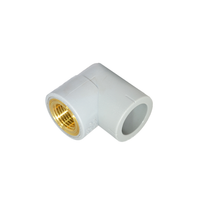 Socket Fusion 90 Degree Elbow Female Threaded Lead Free Brass