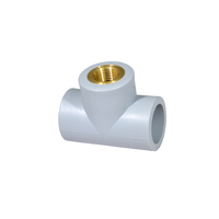 Female Threaded Socket Fusion Tee with Lead Free Brass