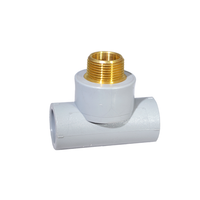 Male Threaded Socket Fusion Tee with Lead Free Brass