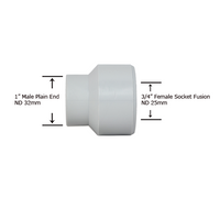 "1"" Plain End x 3/4"" Socket Fusion Reducing Bushing"