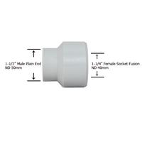 "1-1/2"" Plain End x 1-1/4"" Socket Fusion Reducing Bushing"