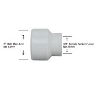"2"" Plain End x 3/4"" Socket Fusion Reducing Bushing"