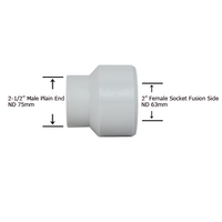 "2-1/2"" Plain End x 2"" Socket Fusion Reducing Bushing"