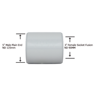 "5"" Plain End x 3"" Socket Fusion Reducing Bushing"