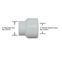 "5"" Plain End x 4"" Socket Fusion Reducing Bushing"
