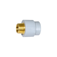 "1"" Socket Fusion x 3/4"" MPT Male Threaded Lead Free Brass Transition ND 32mm PP-RCT"