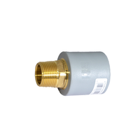 "1-1/2"" Socket Fusion x 1-1/4"" MPT Male Threaded Lead Free Brass Transition ND 50mm PP-RCT"