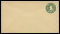 U.S. Scott # U 380/10, UPSS #1383/14 1903 1c Franklin, blue green on amber - Mint (See Warranty)