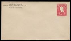 U.S. Scott # U 385/10, UPSS #1396/14 1903 2c Washington, carmine on white - Mint (See Warranty)