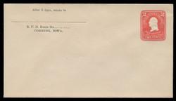 U.S. Scott # U 385b/10, UPSS #1396a/14 1903 2c Washington, carmine on white - Mint (See Warranty)