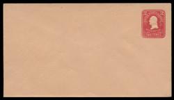 U.S. Scott # U 387/13, UPSS #1417/14 1903 2c Washington, carmine on oriental buff - Mint (See Warranty)