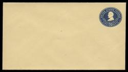 U.S. Scott # U 394/10, UPSS #1437/14 1903 5c Lincoln, blue on amber - Mint (See Warranty)