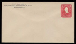 U.S. Scott # U 395/10, UPSS #1442/14 1903 2c Washington, recut, carmine on white - Mint (See Warranty)