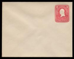U.S. Scott # U 395/14, UPSS #1445/14 1903 2c Washington, recut, carmine on white - Mint (See Warranty)