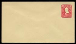 U.S. Scott # U 396/10, UPSS #1453/14 1903 2c Washington, recut, carmine on amber - Mint (See Warranty)