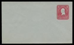 U.S. Scott # U 398/07, UPSS #1465/14 1903 2c Washington, recut, carmine on blue - Mint (See Warranty)