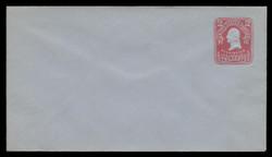 U.S. Scott # U 398/10, UPSS #1468/14 1903 2c Washington, recut, carmine on blue - Mint (See Warranty)