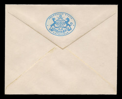 INDIA, Stationery, The Princely State of Amarnagar/Kathiawar - Light Blue On White