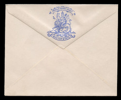 INDIA, Stationery, The Princely State of Bastar State - Blue On White