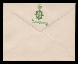 INDIA, Stationery, The Princely State of Nanpara/Mohamdi - Green On White