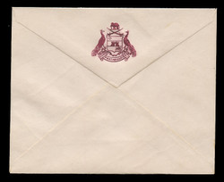 INDIA, Stationery, The Princely State of Pratabgarh - Maroon On White