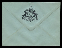 INDIA, Stationery, The Princely State of Unknown State #1 - Black On Blue