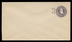U.S. Scott # U 446a/10, UPSS 2739/19, 1920-1 2c (Type 1 Sch) on 3c (U436b) Washington, dark violet on white, Die 5 - Mint (See Warranty)
