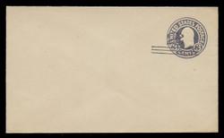 U.S. Scott # U 448/07, UPSS 2745/20, 1920-1 2c (Type 2 Sch) on 3c (U436a) Washington, dark violet on white, Die 1 - Mint (See Warranty)