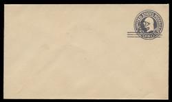 U.S. Scott # U 448/08, UPSS 2747/20, 1920-1 2c (Type 2 Sch) on 3c (U436a) Washington, dark violet on white, Die 1 - Mint (See Warranty)
