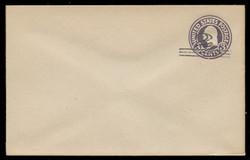 U.S. Scott # U 448/09, UPSS 2748/20, 1920-1 2c (Type 2 Sch) on 3c (U436a) Washington, dark violet on white, Die 1 - Mint (See Warranty)