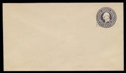 U.S. Scott # U 448/10, UPSS 2750/20, 1920-1 2c (Type 2 Sch) on 3c (U436a) Washington, dark violet on white, Die 1 - Mint (See Warranty)