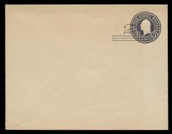 U.S. Scott # U 448/17, UPSS 2756/19, 1920-1 2c (Type 2 Sch) on 3c (U436a) Washington, dark violet on white, Die 1 - Mint (See Warranty)