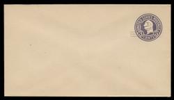 U.S. Scott # U 448a/10, UPSS 2760/19, 1920-1 2c (Type 2 Sch) on 3c (U436b) Washington, dark violet on white, Die 5 - Mint (See Warranty)