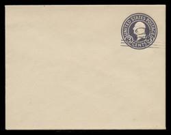 U.S. Scott # U 448c/14, UPSS 2770/20, 1920-1 2c (Type 2 Sch) on 3c (U436d) Washington, dark violet on white, Die 7 - Mint (See Warranty)