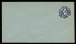 U.S. Scott # U 461a/10, UPSS 2908/20, 1920-1 2c (Type 3 Sch) on 3c (U439b) Washington, dark violet on blue, Die 5 - Mint (See Warranty)