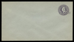 U.S. Scott # U 461b/13, UPSS 2910/19, 1920-1 2c (Type 3 Sch) on 3c (U439c) Washington, dark violet on blue, Die 6 - Mint (See Warranty)