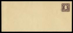U.S. Scott # U 473/21, UPSS 2919/14, 1920-1 2c (Type 4 Sch) on 4c (U391) Lincoln, chocolate on amber - Mint (See Warranty)