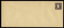 U.S. Scott # U 473/23, UPSS 2920/14, 1920-1 2c (Type 4 Sch) on 4c (U391) Lincoln, chocolate on amber - Mint (See Warranty)